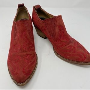 Dolce Vita Red Ankle Boots